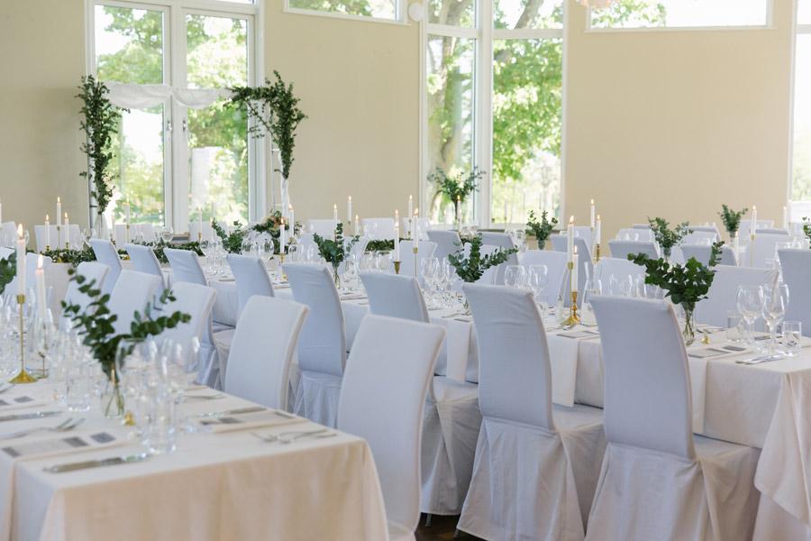 Bröllopsdukning på Bjärsjölagårds Slott