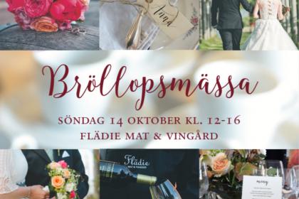 Bröllopsmässa Flädie mat & vingård