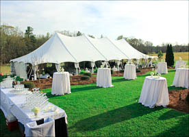 Tält, möbler och utrustning