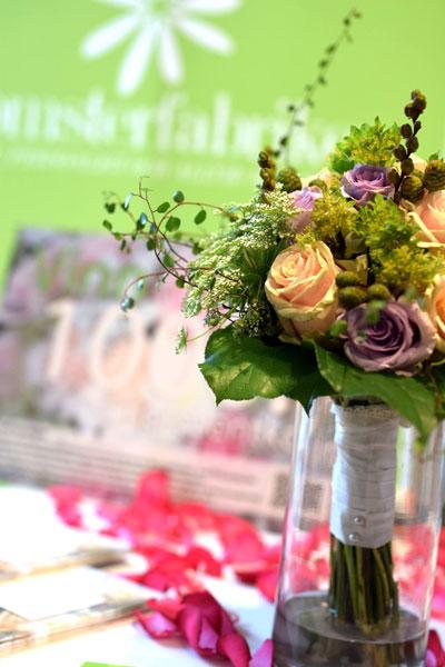 Blomsterfabriken i Malmö, brudbuketter och bordsdekoration
